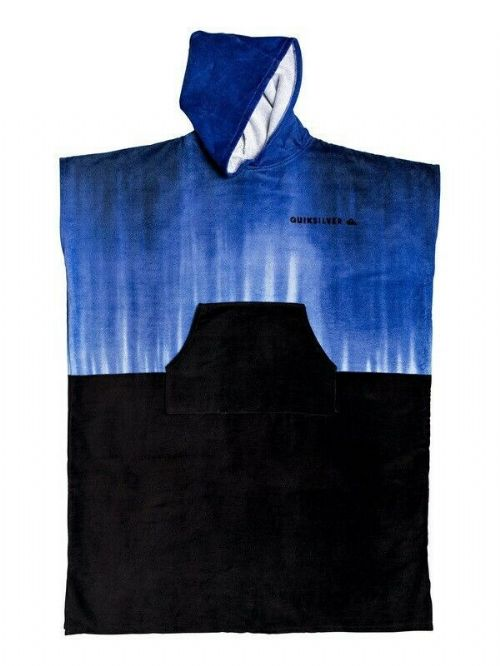QUIKSILVER MENS PONCHO TOWEL.NEW SURFER HOODED BLUE VELOUR CHANGING ROBE 9W 42 P